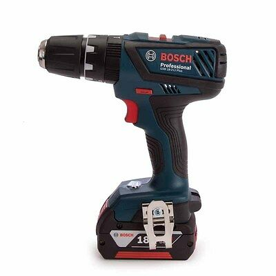 New Bosch GSB 18-2-Li Plus Cordless Combi Drill 1 x 4ah In Carry Case (5298)