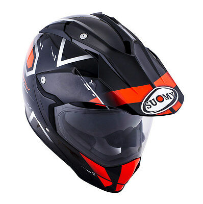 Casco Suomy MX Tourer Road orange fibbra carbonio ktm