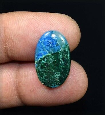 14.70 Cts. 100 % Natural  Chrysocolla Oval Cabochon Untreated Loose Gemstones