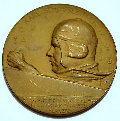 Austrian Medal by R.Ruepp 1919 with Karl Schossleitner (1888-1959)