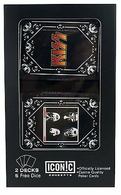 Kiss Dynasty Double Deck Playing Cards W/ BONUS DICE SET