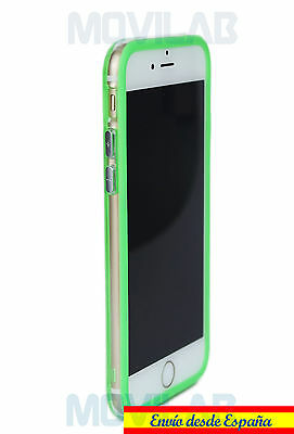 a3a23a37ab4 Bumper gel / TPU Apple Iphone 6 / 6S verde / transparente - Carcasa-