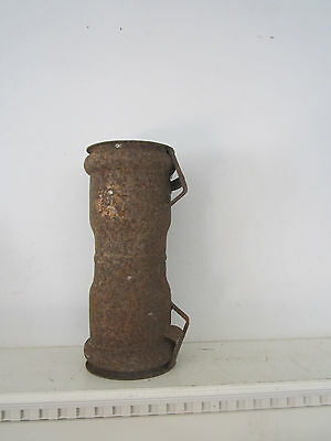 "vintage old rusty pipe cylinder 12"" tall  x 5"" diameter garden farm rusty decor"