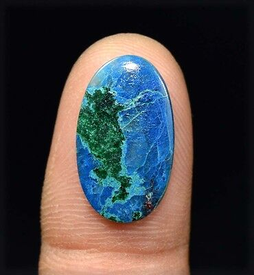 6.65 Cts. 100 % Natural  Chrysocolla Oval Cabochon Untreated Loose Gemstones
