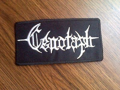 Cenotaph,sew On White Embroidered Patch