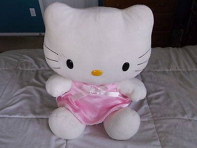 """Large Collectible Pink Dress Hello Kitty Plush (Almost 20"""" Tall)"""