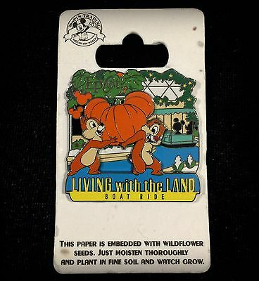 Chip n and & Dale Living with the Land Boat Ride WDW Attraction Disney Pin 83255