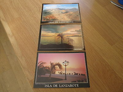 THREE NEW & UNUSED 1990s Lanzarote Canary Islands Spanish Colour Postcards