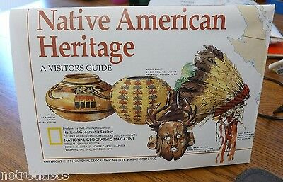 National Geographic MAP / POSTER - NATIVE AMERICAN HERITAGE - OCT. 1991