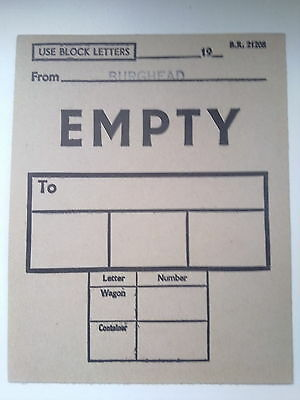 B,r,    Wagon Label,  (  From  Burghead  To,  Empty,, )