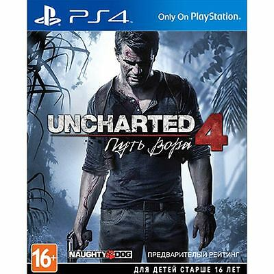 *NEW* UNCHARTED 4: A Thief's End SONY PS4 GAME RUSSIAN VERSION 18+