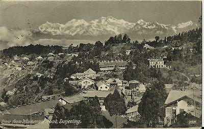 Darjeeling , View from Mackenzie Road.Wtite in 1907. Scarce stamp.Look Photos.