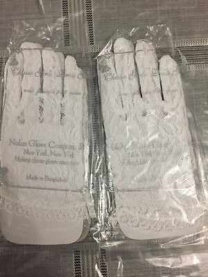 GIRL/'S WHITE Classic DRESS GLOVES Fits Ages 4-6 Nolan Glove Co US Seller
