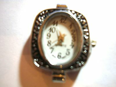 1 x  Silver Tone Quartz Watch Face For Beading lot 6A