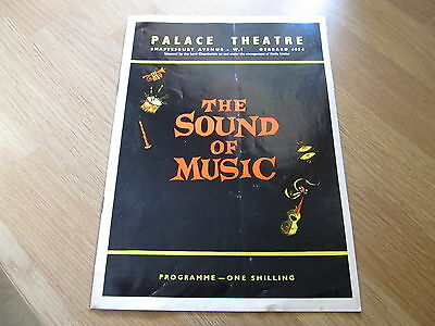 The Sound of Music 1960s Palace Theatre Programme Jean Bayliss Roger Dann