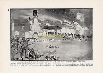 French Defeat The Germans At Village Of Sommesous France, Ww1, Great War 1915