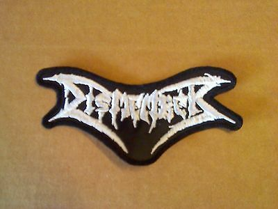 Dismember,sew On White Embroidered Patch