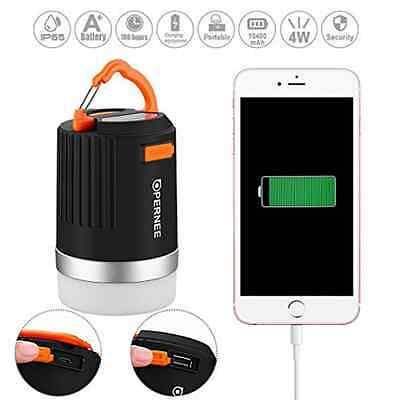 Rechargeable Waterproof Camping Lantern Portable Power Bank Mobile Phone Charger