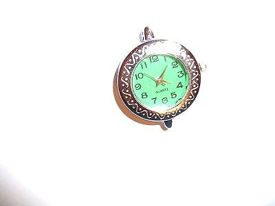 1 x  Silver Tone Quartz Watch Face For Beading lot 15A