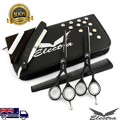 """Professional Hair Cutting +Thinning Scissors Barber Shears Hairdressing Set 5.5"""""""