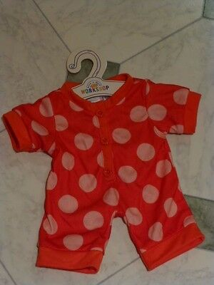 Brand new with tags Build a Bear Peppa Pig spotted onesie/pyjamas