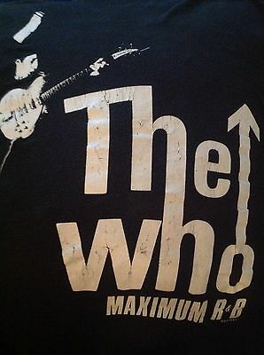 """The Who Vintage Concert T-Shirt 1989 Kids Are Alright - 36"""" Chest - RARE"""
