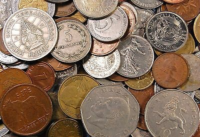 5+ Pounds Foreign Coins - Over 5 lbs and approx 500 coins