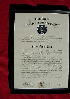 US Navy Officers Presidential Appointment to Captain Cetificate  Vietnam War