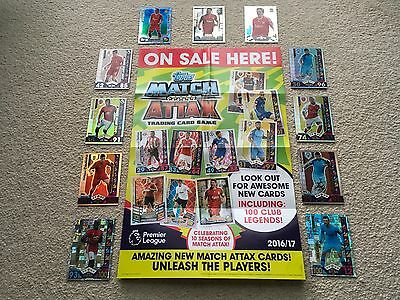 Topps Match Attax Cards Limited Edition, Club 100, PREMIER LEAGUE, 2016/17 16/17