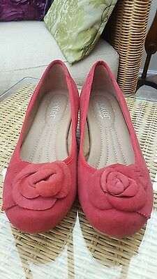 Ladies Women's Red Hotter comfort wedges size 4