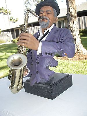 "Willitts All That Jazz~Art Impressions ""sax Appeal"" Exquisite Jazz Sax Sculpture"
