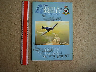 Battle of Britain Memorial Flight 1996 brochure, with display list for the year.