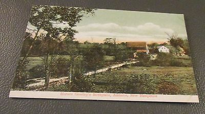 Old Postcard-  AMHERST , NEW HAMPSHIRE   { HORACE GREELEY'S BIRTHPLACE}