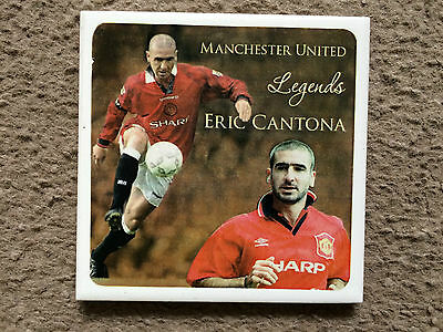 Great Manchester United FC 'Legends' ceramic coaster featuring Eric Cantona
