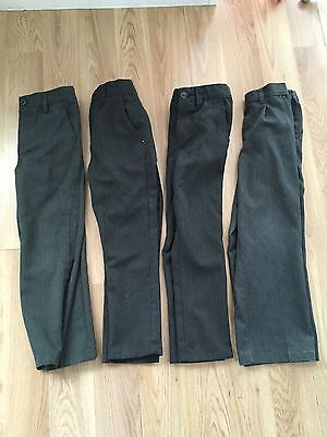 Age 6 Boys Grey School Trousers, Marks And Spencer, Debenhams And Next