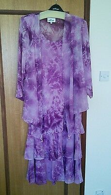 Mother of the bride outfit deep pink-purple dress suit 16  CATTIVA New York