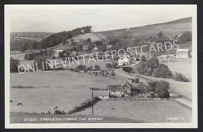 Yorkshire Castleton The Railway Station Real Photo