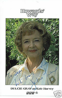 Dulcie Gray Actress Vintage Howards Way  Hand Signed Photograph  4 x 3
