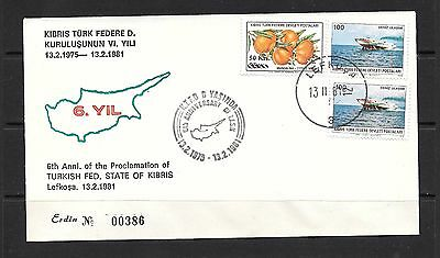 Turkey Turkish Cyprus 1981 Cover