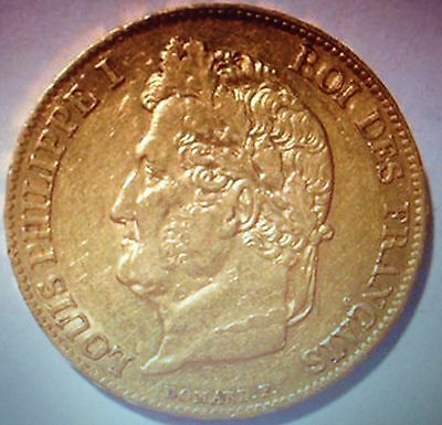 20 Francs 1836 W LILLE GOLD OR LOUIS Philippe Frankreich France Goldmünze