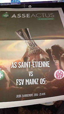 Official Programme Asse Saint-Etienne France- Mayence Mainz Germany C3 2016-2017