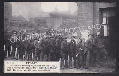Derbyshire Clay Cross Colliery Pay Day Superb Social History