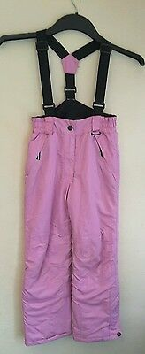 Proviz Sports Girls Ski Trousers/Salopettes, Aged 6-8yrs, Great Condition