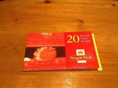 1995 Second Class Christmas STAMPS - - Royal Mail Postage booklet  Of 20
