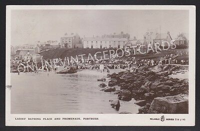 Co Antrim Ladies Bathing Place Portrush Superb Real Photo Posted 1912
