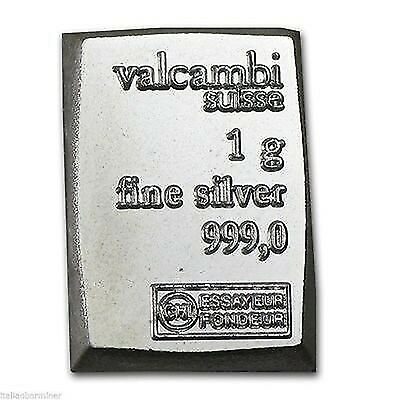 Verified Valcambi Suisse 1 Gram Pure Silver CombiBar