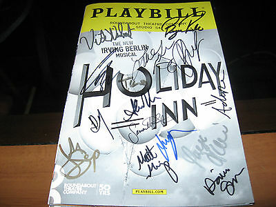 Holiday Inn Broadway Beautifully cast autographed playbill
