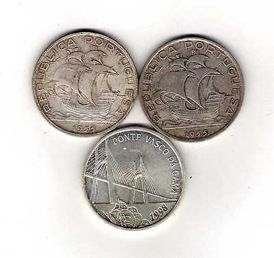 Portugal Lot of 3 Silver Coins