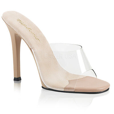 7400b285900 PLEASER Sexy Shoes Pageant Slip On Tan 4 1 2