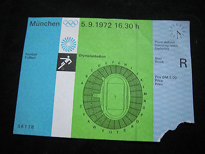 Orig.Ticket    Olympic Games München 1972 - FOOTBALL   GERMANY - HUNGARY !! RARE